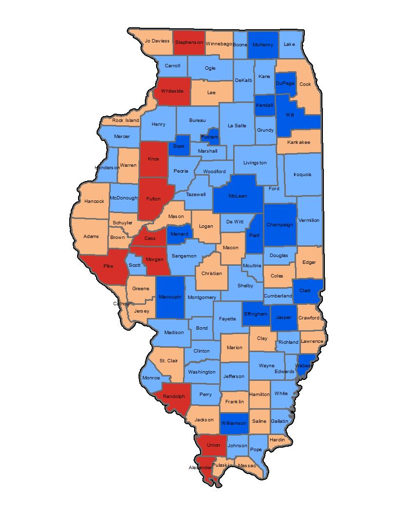 Illinois Flooding Vulnerability Map