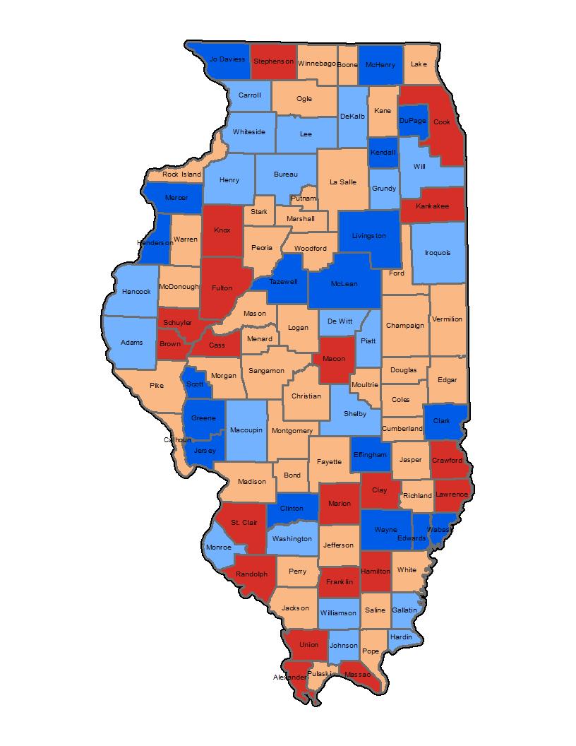 Ozone Vulnerability Illinois Map