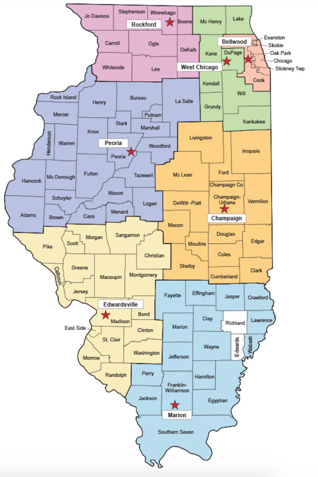 The Illinois Department of Public Health's Health Regions and Local Health Departments Kendall County Health Department